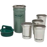 Набор Stanley Adventure Combo (фляга (0,59л) + 4 рюмки), зеленый