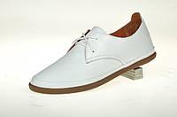 Туфли (кроссовки) белые женские из натуральной кожи MIDA 210333 (34) белый