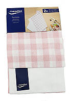 F1-00912, Комплект кухонних рушників Meradiso, 2 шт., 50 х 70 см, білий-рожевий