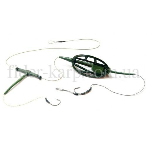 Рыболовная кормушка Метод с отводом , вес 50 грамм