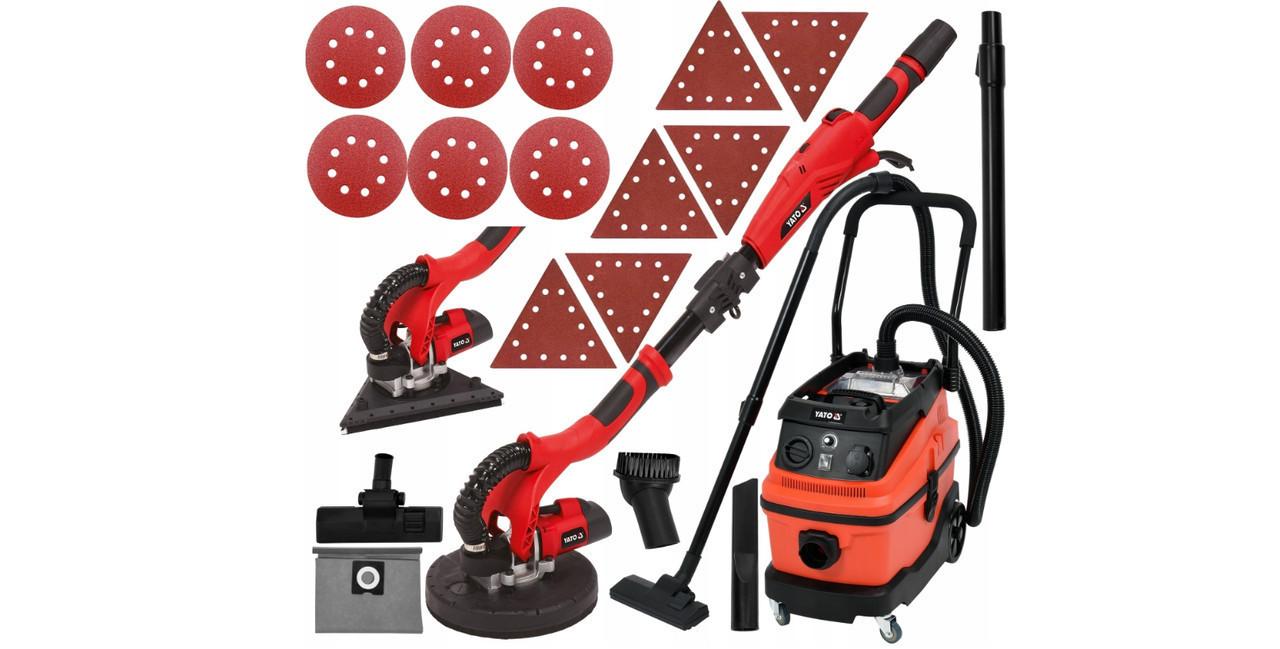 Комплект шлифовальные машины для стен + пылесос YATO