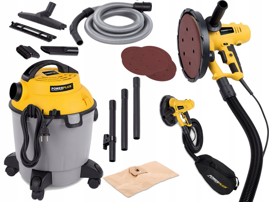 Комплект Шлифовальные машины для стен + пылесос POWERPLUS