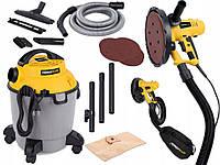 Комплект Шлифовальные машины для стен + пылесос POWERPLUS, фото 1