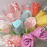 Мыло тюльпаны роза (поштучно)  букет из мыльных цветов  мыльная цветочная композиция из мыла ручной работы, фото 8