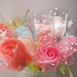 Мыло тюльпаны роза (поштучно)  букет из мыльных цветов  мыльная цветочная композиция из мыла ручной работы, фото 10