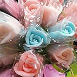 Мыло тюльпаны роза (поштучно)  букет из мыльных цветов  мыльная цветочная композиция из мыла ручной работы, фото 9