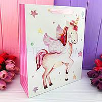 Подарочный пакет из бумаги Єдиноріг Magic Unicorns