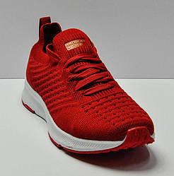 Кроссовки красного цвета на шнуровке, American Club
