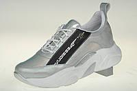 Туфли (кроссовки) женские из натуральной кожи MIDA 210364 (700) голограмма