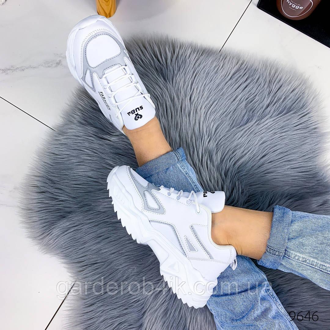 Женские белые кроссовки весенние