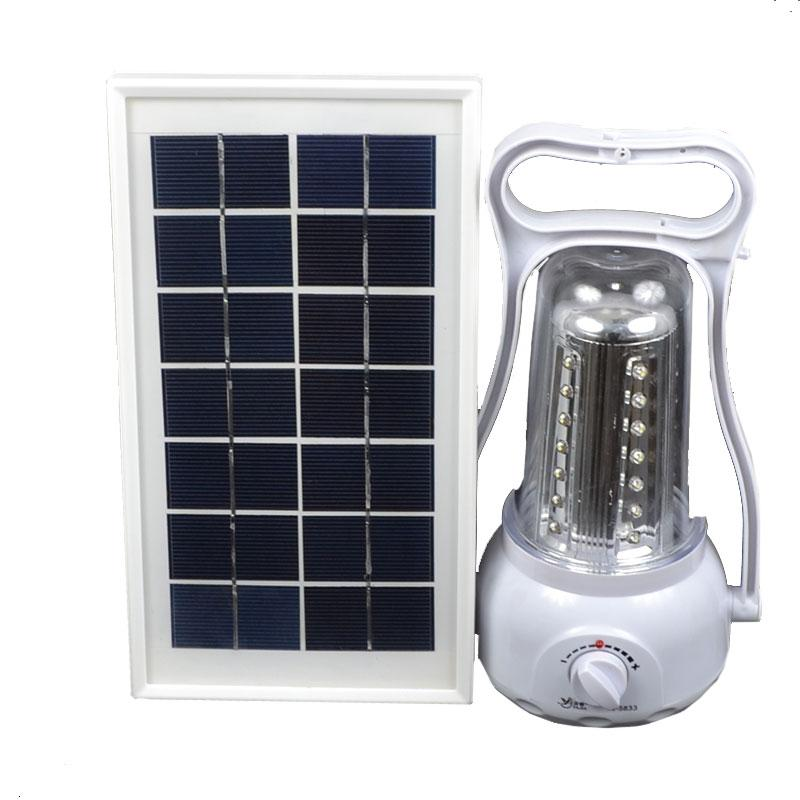 3 в 1 - кемпінговий Ліхтар + Power Bank + зовнішня сонячна панель (LED 35, регул. яскравості, 220V)