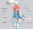 Проточний водонагрівач Delimano Делімано, міні бойлер, кран змішувач, нижнє підключення, фото 3