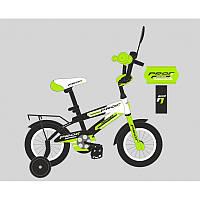 Велосипед детский PROF1 20д. SY2054  Inspirer,черно-бел-салат(мат),свет,звонок,зерк