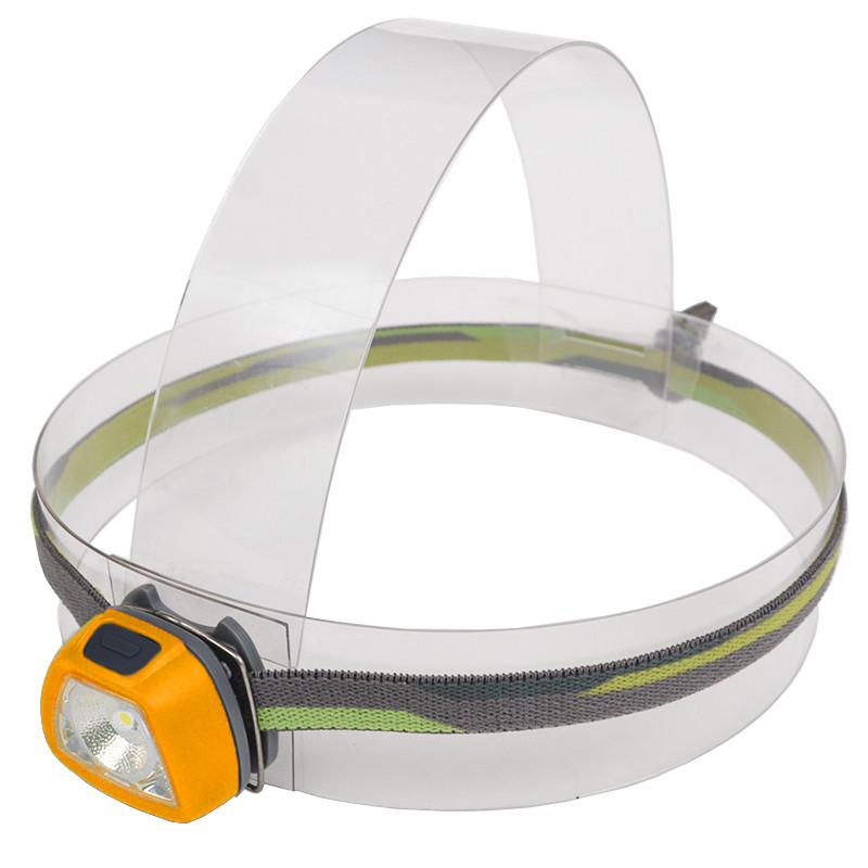 Фонарь налобный Rayfall HP1R (SMD 3535 LED + 2xRed LED, 35 Lumen, 5 режимов, 2xCR2032), оранжевый