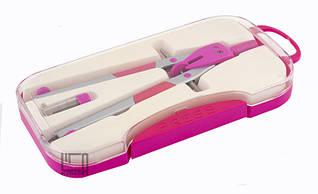 Циркуль універсальний ГПБ у пластиковому пеналі рожевий 27002B