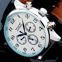Мужские механические часы Jaragar Elite White с автоподзаводом