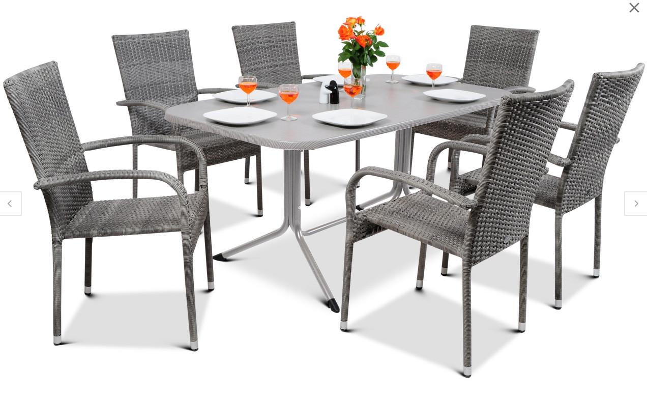 Набор садовой мебели FIESTA AVENUE Стол + 6 стульев из техноротанга