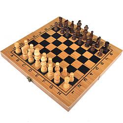 3 в 1 - Нарды + шахматы + шашки (29.5 х15х4.5см), бамбук