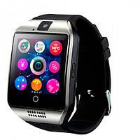 Мужские умные смарт часы с сим-картой UWatch Smart Q18 UWatch NFC Black