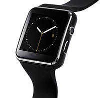 Мужские Умные смарт часы с сим-картой UWatch Smart X6 Nano Black