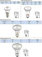 Рефлекторные лампы. Тип R39, R50, R63, R80