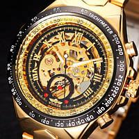 Мужские механические часы Winner Action Gold с атвоподзаводом
