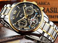 Мужские механические часы Carnival Sappfire Silver (автоподзавод, 25 камней, сапфировое стекло)