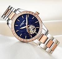 Женские механические часы с автоподзаводом Carnival Lady VIP Silver (25 камней, сапфировое стекло)