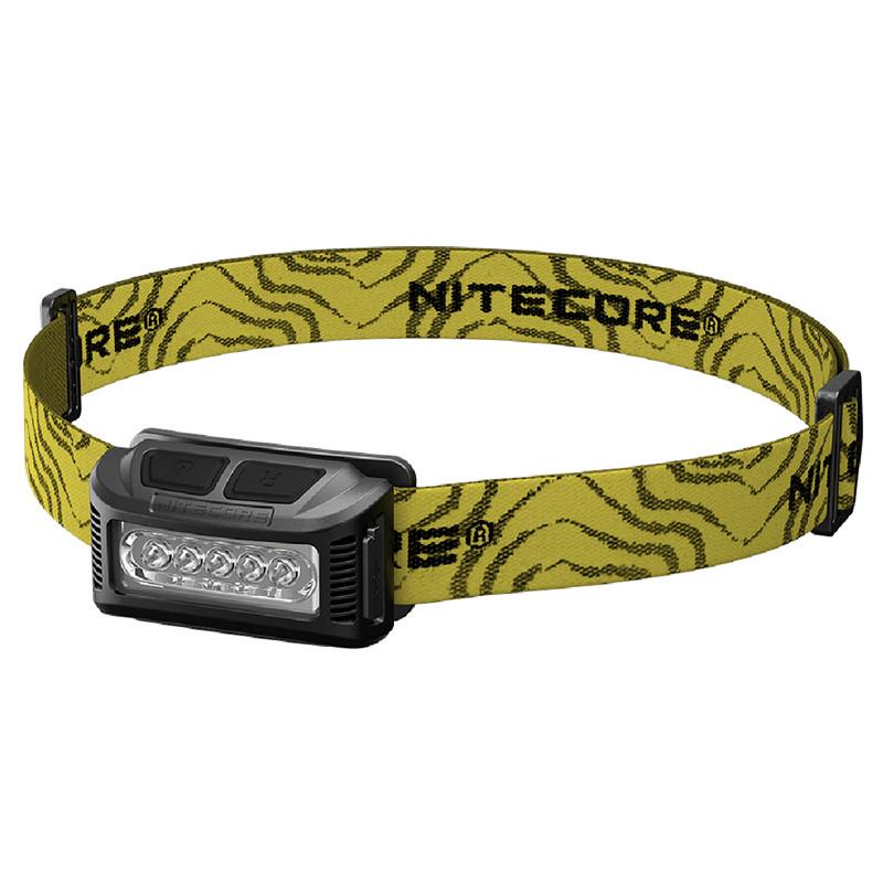 Ліхтар налобний Nitecore NU10 (4xLED + RED LED, 160 люмен, 7 режимів, USB, чорний