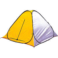 Палатка автомат, всесезонная, для рыбалки Ranger OneClick (200х200х140см), желтый/белый