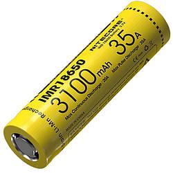 Аккумулятор литиевый Li-Ion IMR 18650 Nitecore 3.7V (35A, 3100mAh)