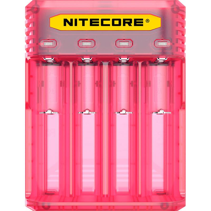 Зарядний пристрій Nitecore Q4 (4 канали), рожеве