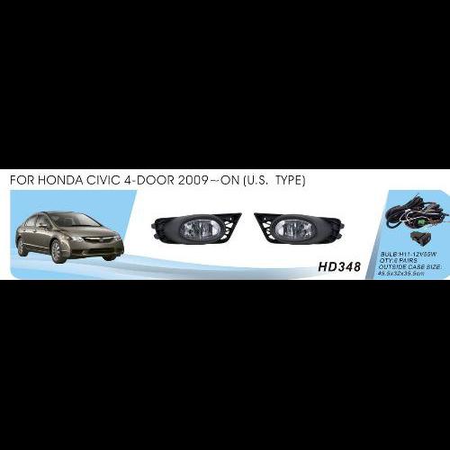 Протитуманні фари Vitol HD-348W Honda Civic 4-door 2009-11 USA TYPE ел.проводка