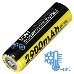 Літієвий акумулятор Li-Ion 18650 Nitecore NL1829LTP 3.6 V (2900mAh, -40°С), захищений