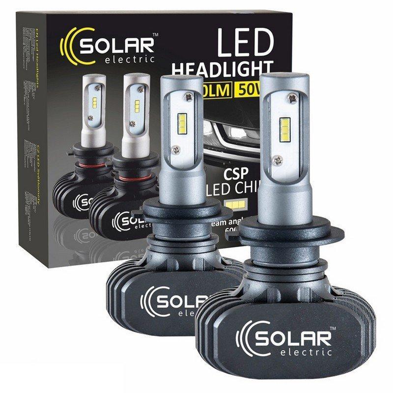 Лампи світлодіодні Solar LED H7 12/24V 6000K 50W Seoul CSP