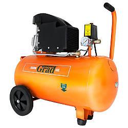 Воздушный компрессор для дома 1.5кВт 196л/мин 8бар 50л Grad 7043525