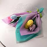 Букет из мыльных цветов тюльпаны Цветочная композиция из мыла ручной работы  Мыльный букет, фото 10
