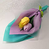 Букет из мыльных цветов тюльпаны Цветочная композиция из мыла ручной работы  Мыльный букет, фото 9