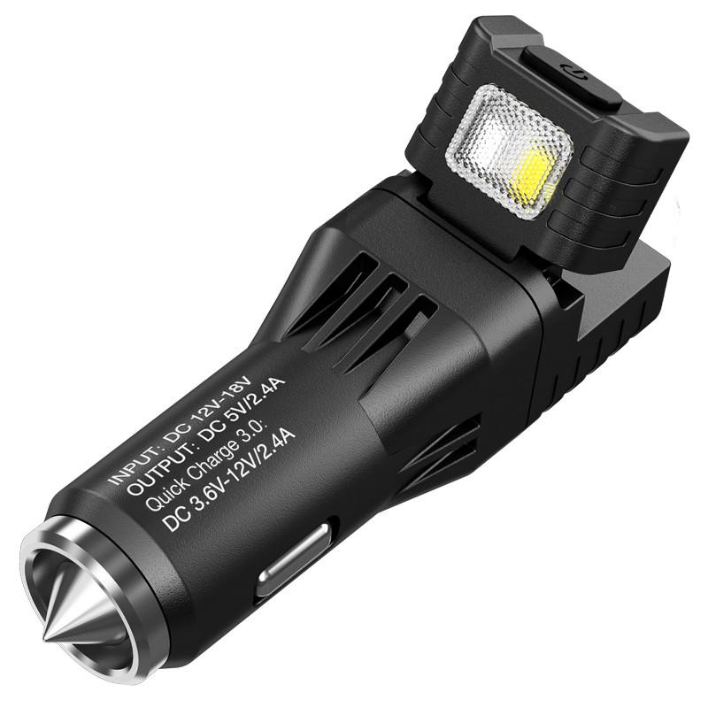 2 в 1 - Ліхтар від прикурювача + автомобільний зарядний пристрій Nitecore VCL10 (25 люмен, 2 реж)