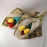 Букет з мильних квітів тюльпани Квіткова композиція з мила ручної роботи Мильний букет, фото 9