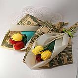 Букет з мильних квітів тюльпани Квіткова композиція з мила ручної роботи Мильний букет, фото 7