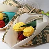 Букет з мильних квітів тюльпани Квіткова композиція з мила ручної роботи Мильний букет, фото 6