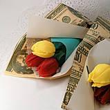 Букет з мильних квітів тюльпани Квіткова композиція з мила ручної роботи Мильний букет, фото 5