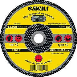 Круг отрезной по металлу Sigma Ø115*2.0мм (1941251)