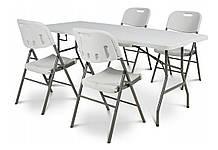 Складной стол 74х180 см + 4 складных стула