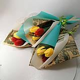 Букет з мильних квітів тюльпани Квіткова композиція з мила ручної роботи Мильний букет, фото 2