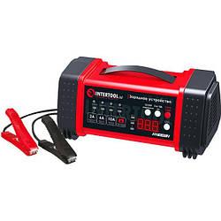 Зарядка для аккумулятора авто 12/24В, 2/6/10А, 2/6A, 230В Intertool AT-3019