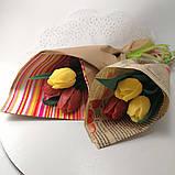 Букет из мыльных цветов тюльпаны Цветочная композиция из мыла ручной работы  Мыльный букет, фото 7