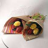 Букет из мыльных цветов тюльпаны Цветочная композиция из мыла ручной работы  Мыльный букет, фото 5