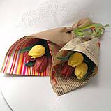 Букет из мыльных цветов тюльпаны Цветочная композиция из мыла ручной работы  Мыльный букет, фото 4